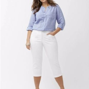 Lane Bryant White Capri Pants